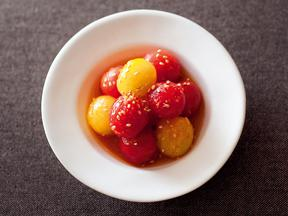 プチトマトのジンジャーマリネ