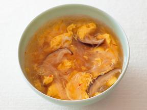 春雨と卵のジンジャースープ