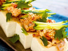 豚しゃぶキムチ豆腐