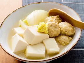 豆腐と鶏だんごの旨塩煮