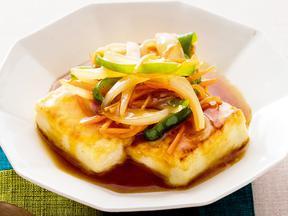 豆腐の野菜甘酢あん