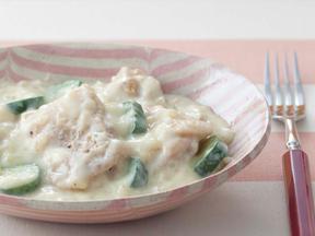 チキンとズッキーニの豆乳クリーム煮