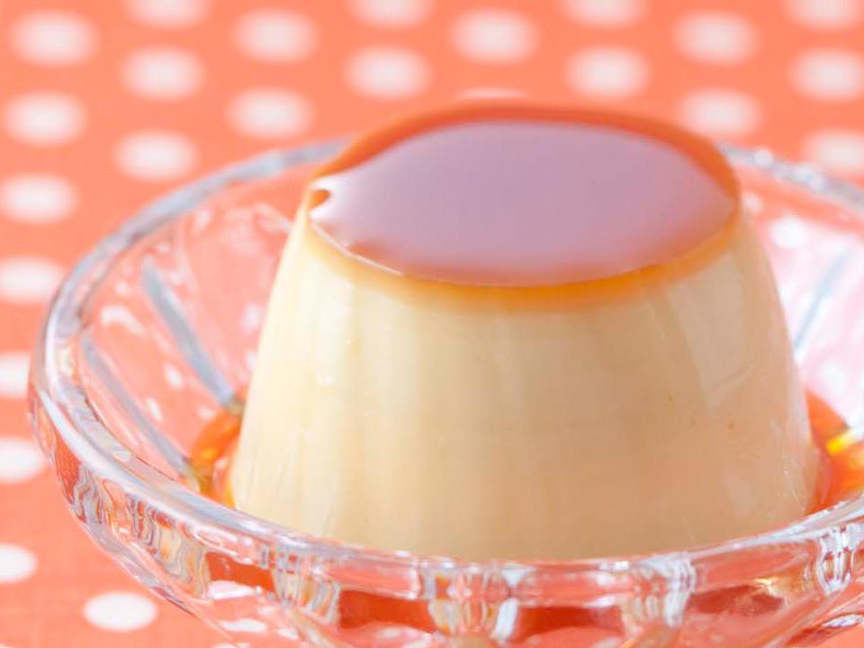 焦がしカラメルの豆乳プリン