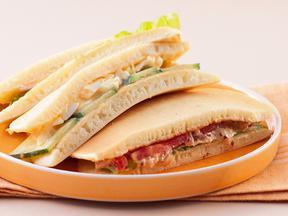 サンドイッチ風パンケーキ
