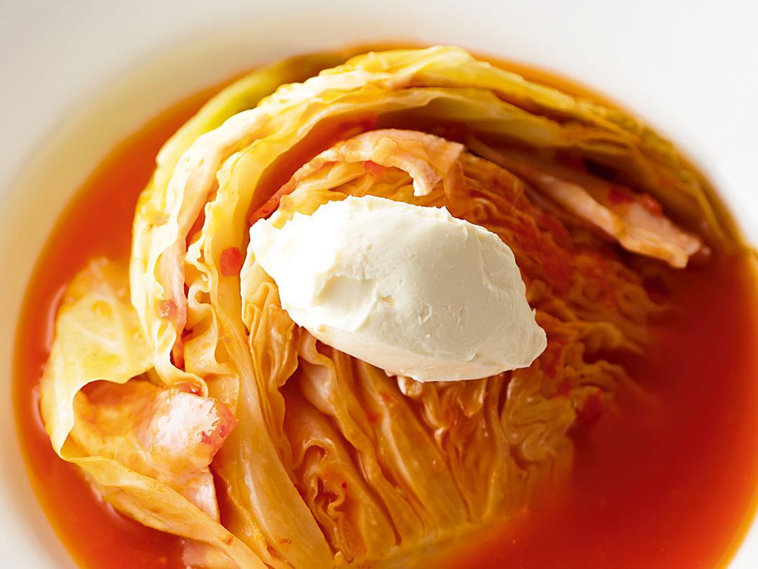 キャベツのチリトマト煮