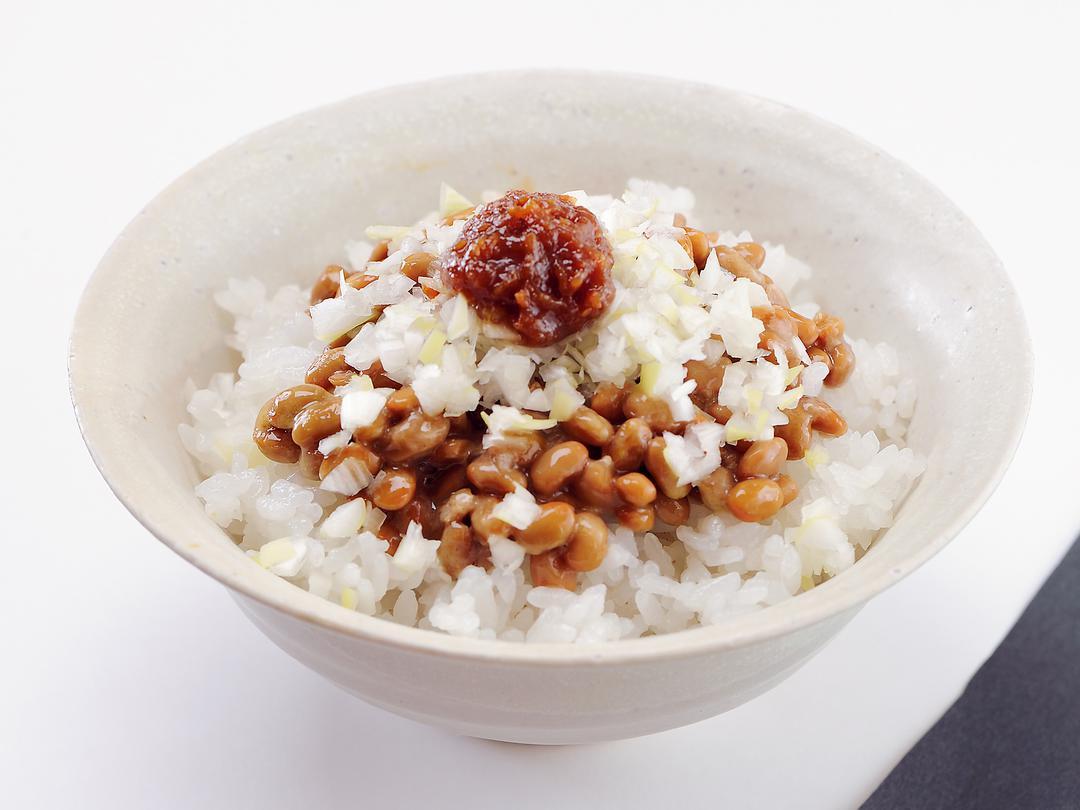 ねぎ味噌納豆ごはん