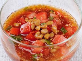納豆トマトつけ麺