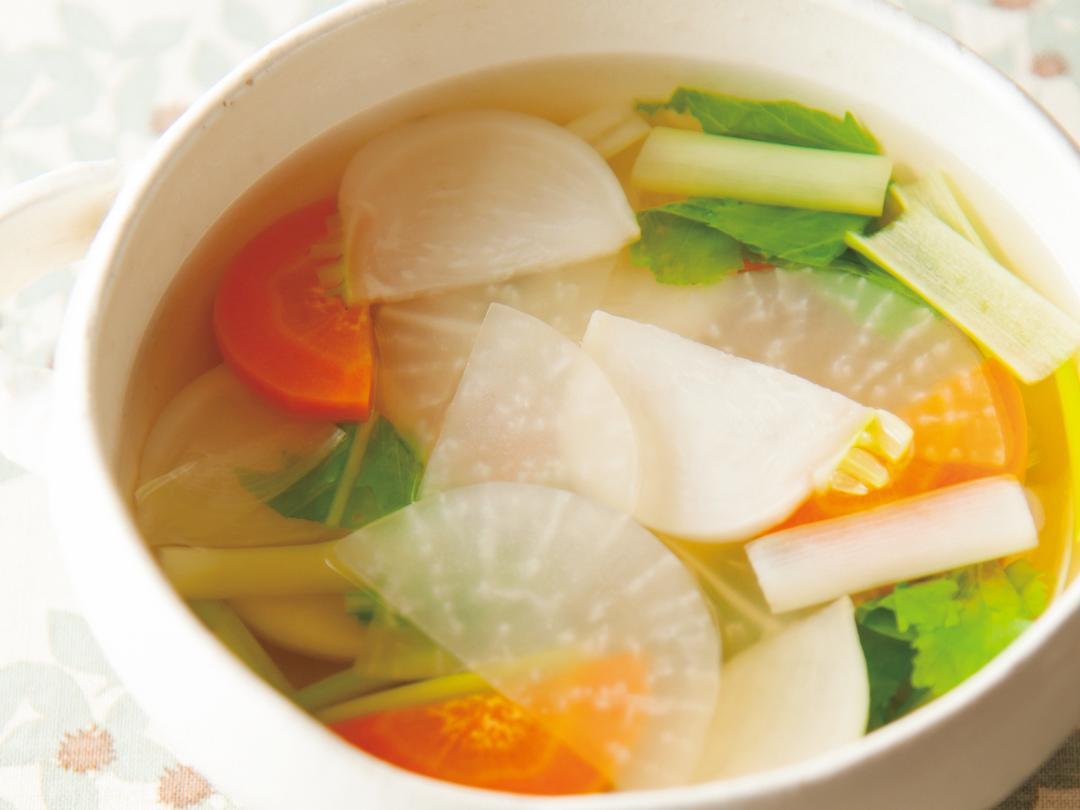 根菜のさっぱりスープ