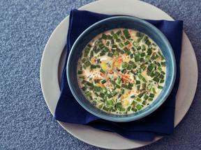 豆もやしと豆乳のコリアンスープ