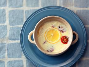 ツナの豆乳レモンスープ