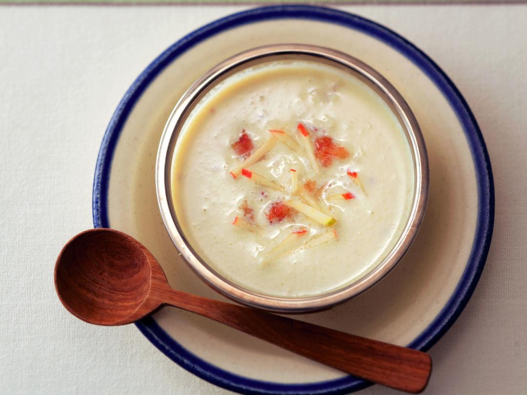 豆乳とりんごの冷製スープ