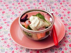 豆乳サワークリームのグレフルサラダ