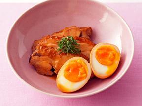 鶏肉のチャーシューwithゆで卵
