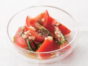トマトと大葉のあえ物