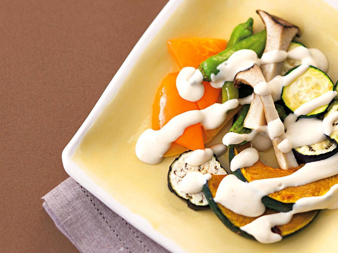 野菜のグリルみそkiriソース添え