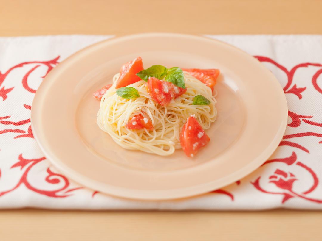 糀ジャム&トマトの冷製パスタ
