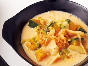 かぼちゃの豆乳キムチスープ