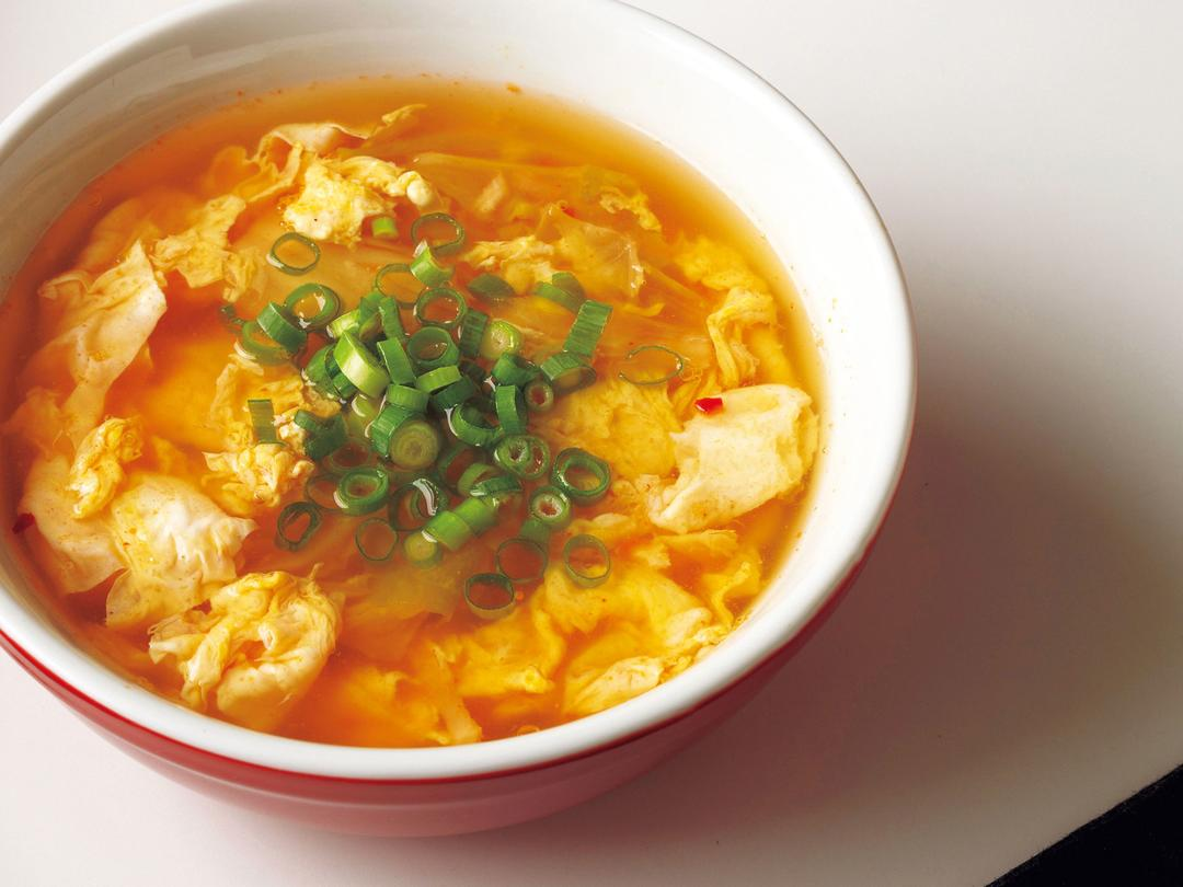卵キムチの酸っぱ辛スープ