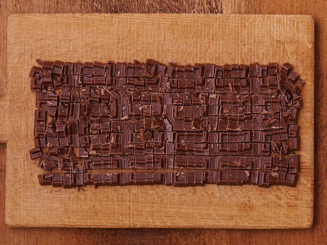 チョコレートの刻み方