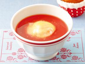 ポーチドエッグトマトスープ