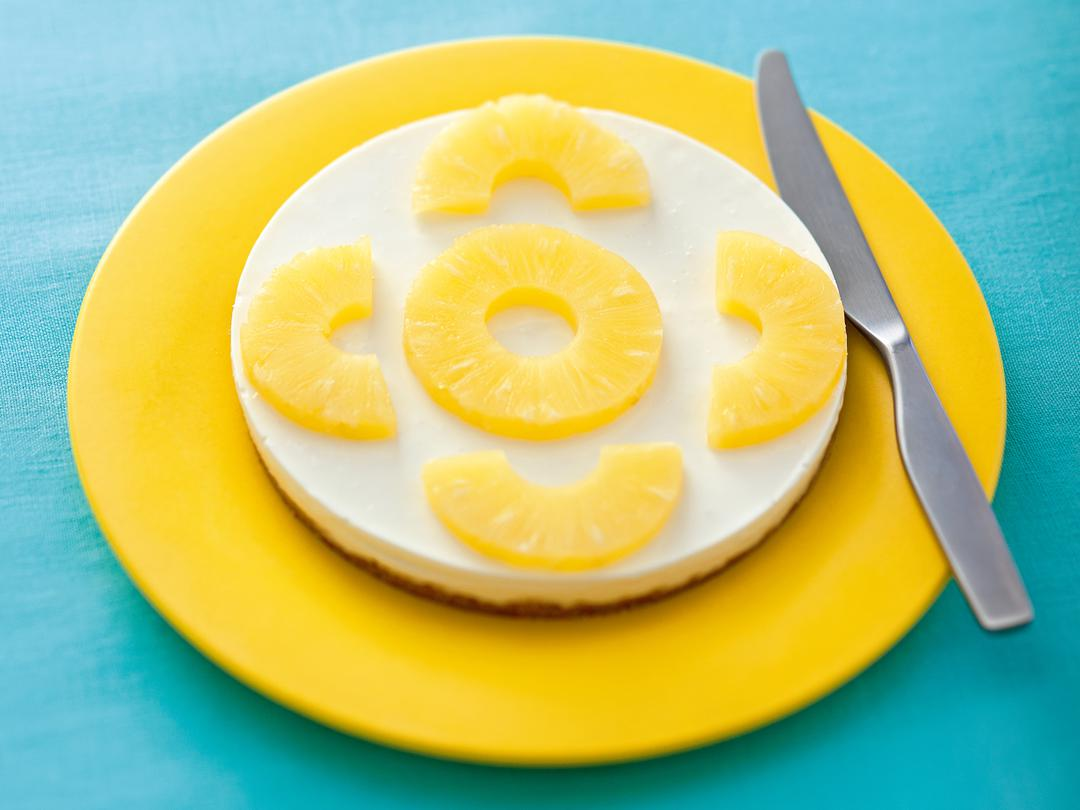 レモンとパインのチーズケーキ
