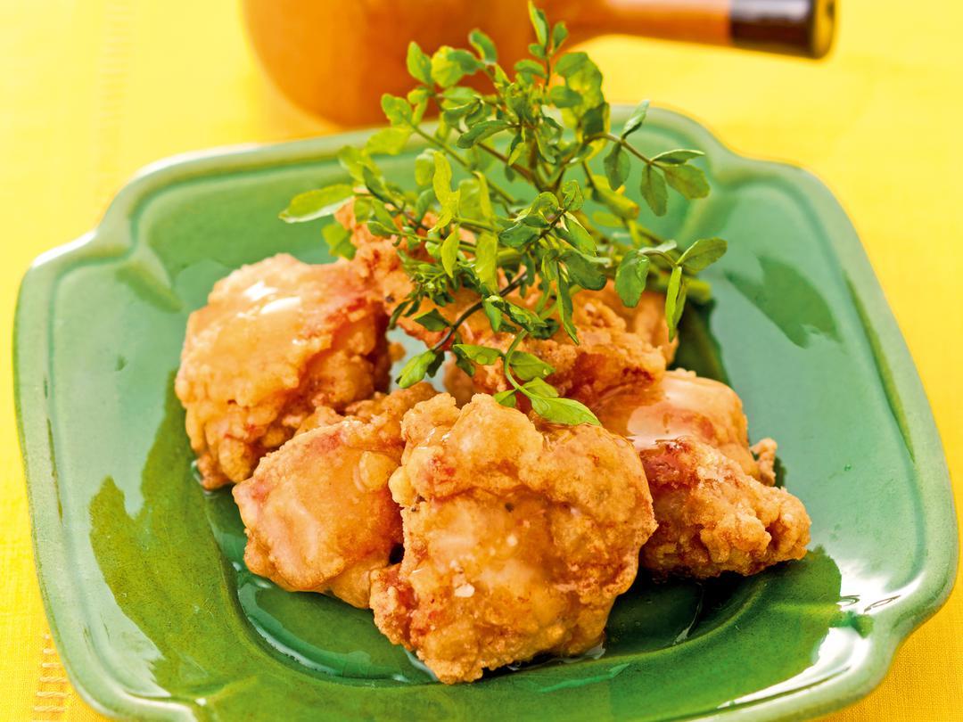 鶏のから揚げのレモンソース