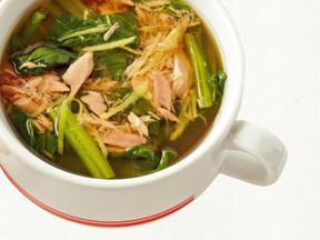 シーチキンとほうれん草の和風しょうがスープ