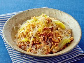シーチキンと白菜の中華風フライパン蒸し