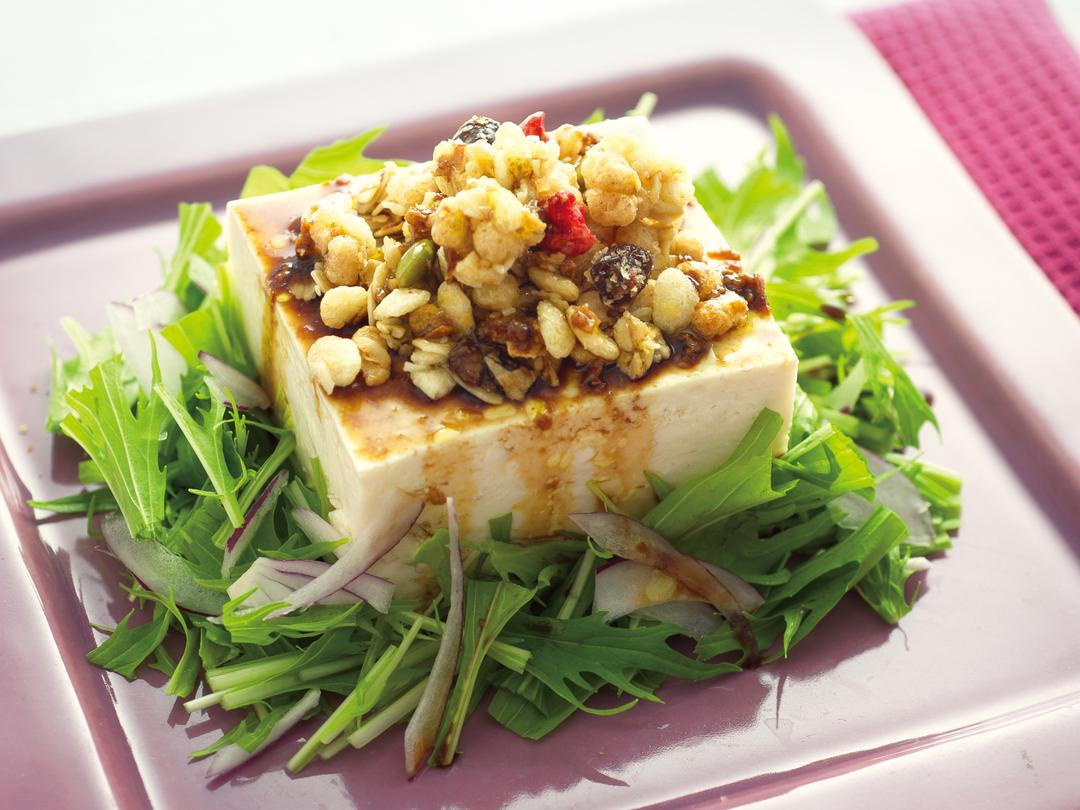 豆腐のフルグラ&バルサミコドレッシング