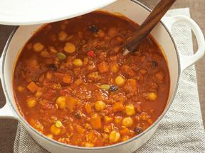 ひよこ豆とフルグラのチリコンカン