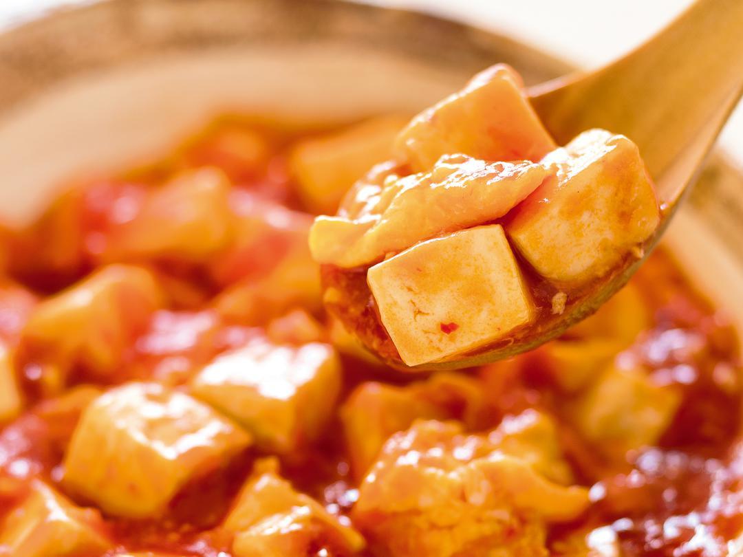 豆腐の卵チリソース