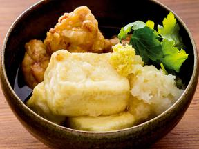 豆腐と鶏の揚げだし