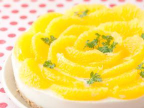 オレンジ・レアチーズ