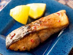 鮭のスイートチリグリル