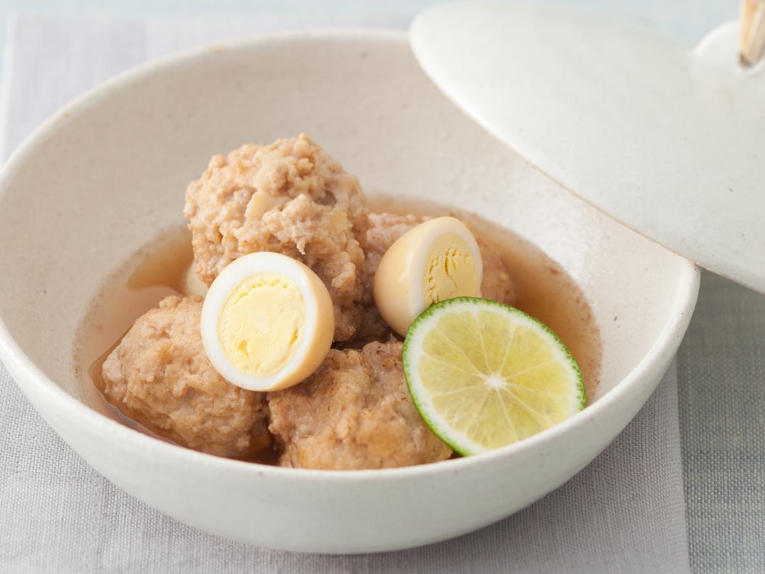 鶏団子&うずら卵の烏龍茶煮