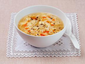 納豆とたまごの中華とろみスープ