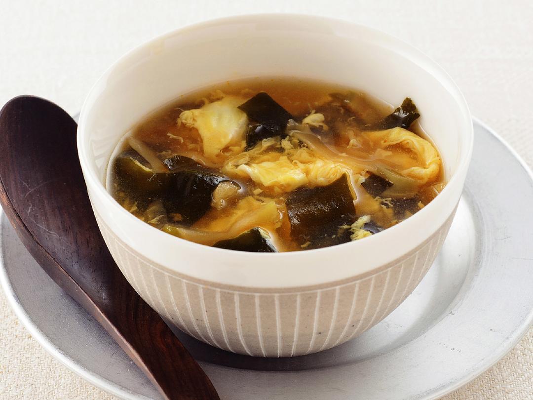 わかめとザーサイの卵スープ
