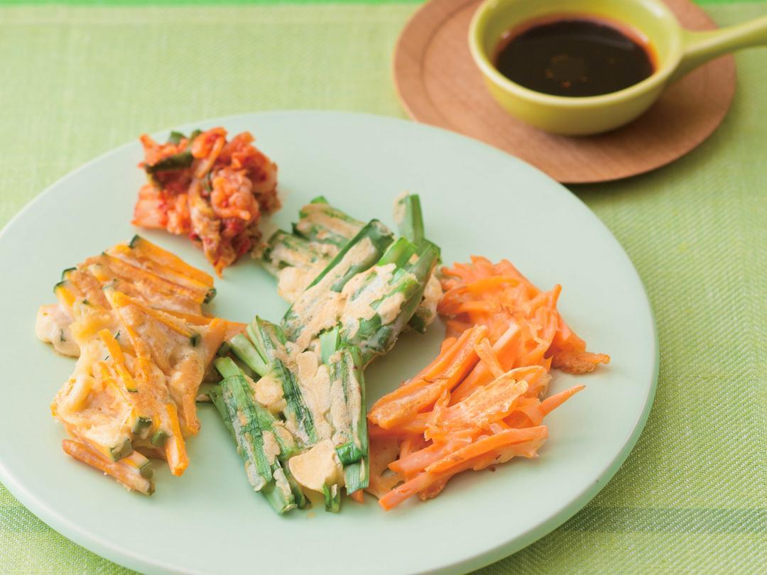 カラフル野菜チヂミ