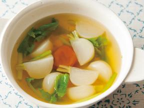 かぶと梅としょうがのスープ