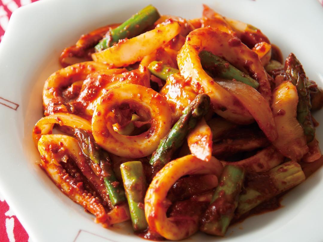 キムチといかの韓国風しょうが炒め