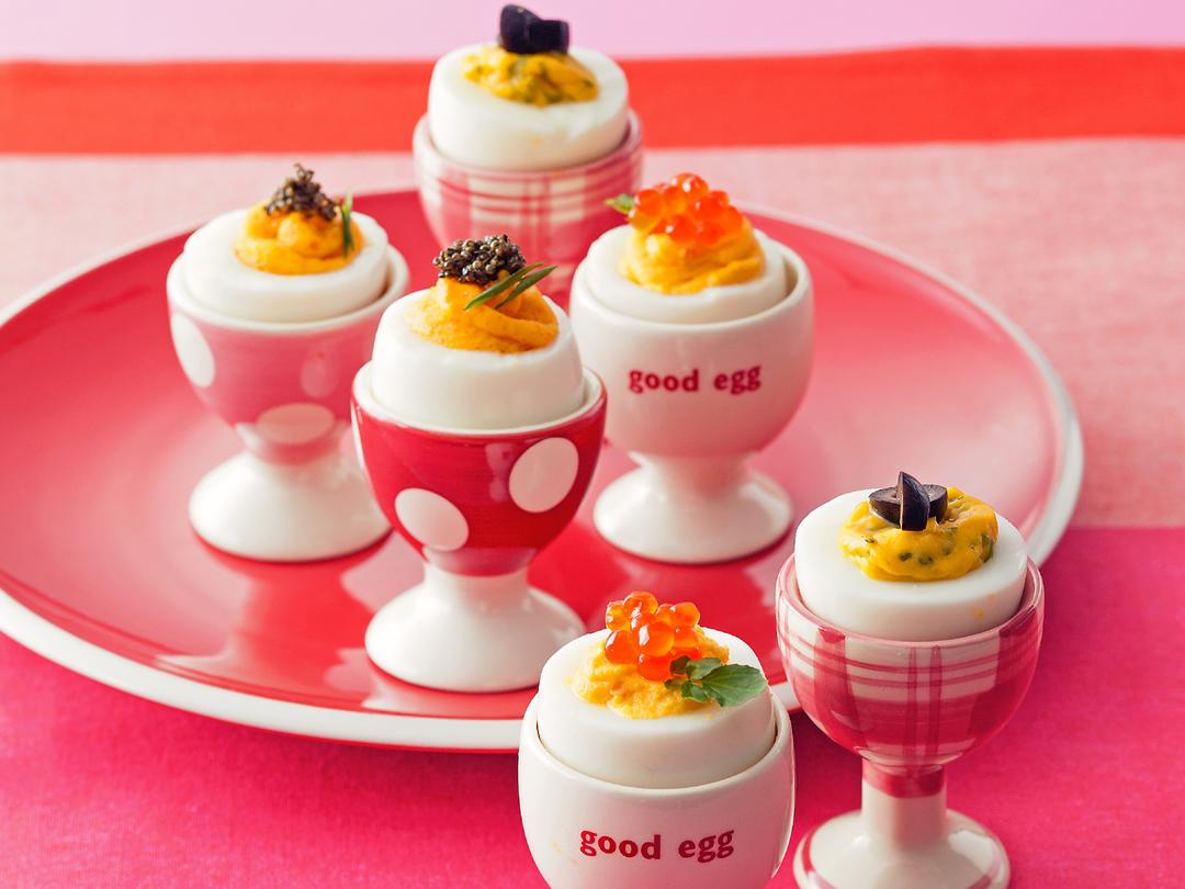 卵カップの3種ピンチョス