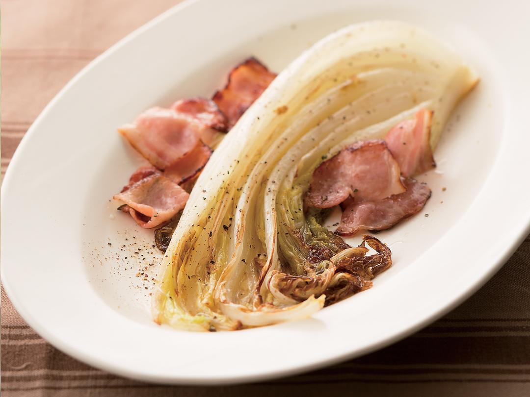 白菜とベーコンのグリル