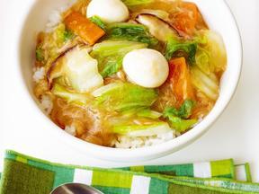 白菜とシーチキンの中華丼