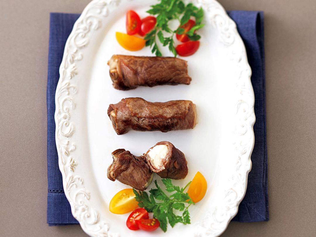 kiriとエリンギの牛肉ロール
