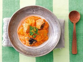 鮭とポテトのトマトkiriリゾット