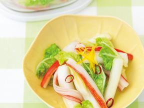 白菜とかにかまの甘酢