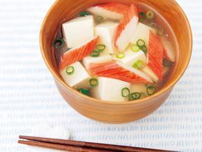 かにかまと豆腐のあんかけ汁