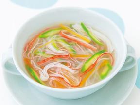 かにかま春雨スープ