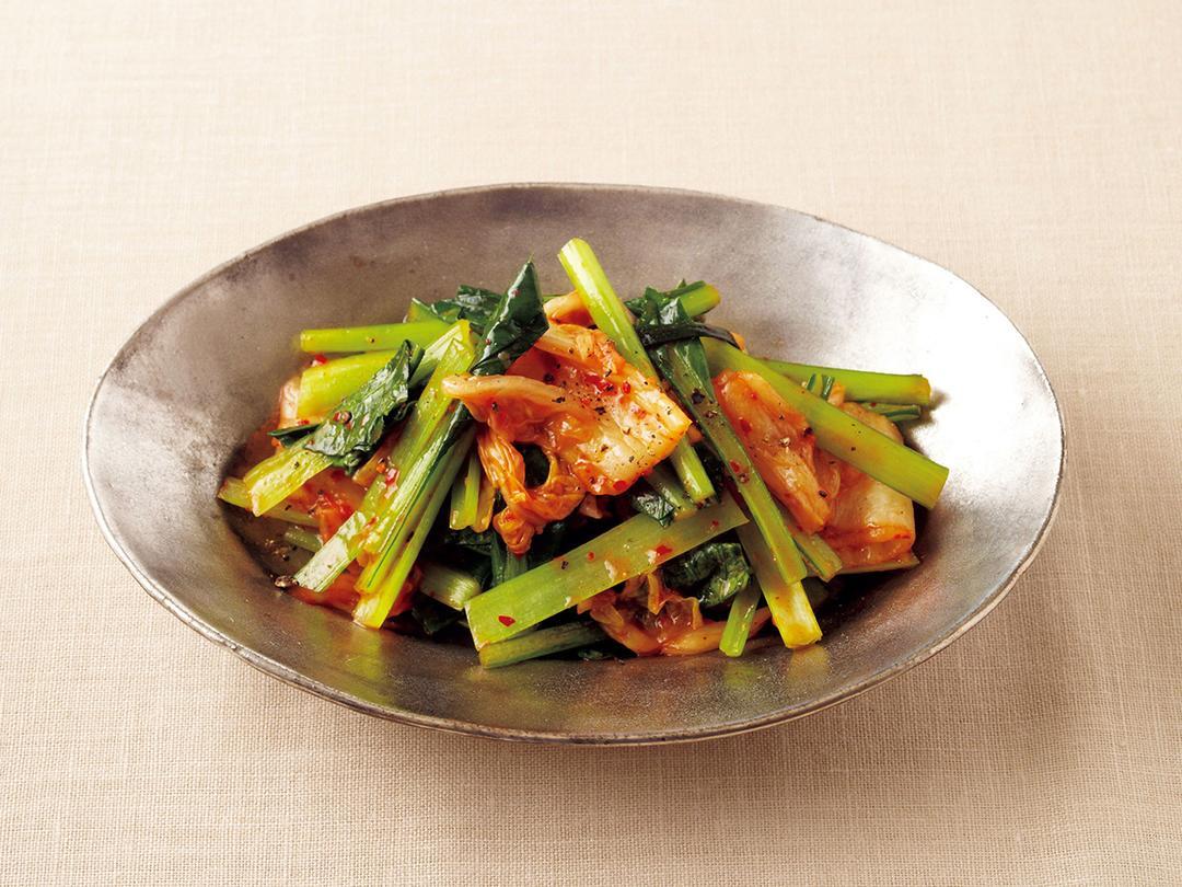 小松菜のキムチナムル