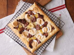 チョコバナナオープンパイ